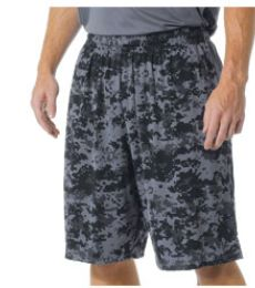 "N5322 A4 10"" Printed Camo Performance Short"