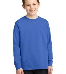 PC54YLS Port and Company Youth Long Sleeve Cotton Blank T Shirt