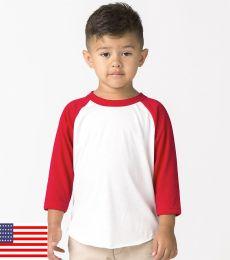 Los Angeles Apparel FF1053 / Toddler Raglan