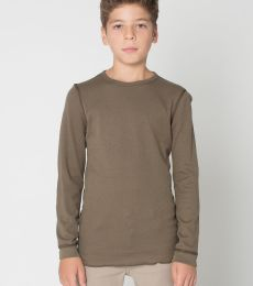 T207 American Apparel Youth Baby Thermal Long Sleeve T