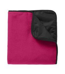 Port Authority TB850    Fleece & Poly Travel Blanket