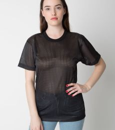 H424 American Apparel Unisex Poly Mesh Athletic Tee