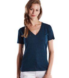 US Blanks US228OD Ladies' 5.2 oz. Short-Sleeve Triblend Layer-Dyed V-Neck