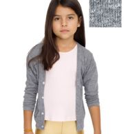 BR100 American Apparel Kids Tri-Blend Rib Cardigan